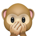 Speak-No-Evil Monkey on Apple iOS 12.2