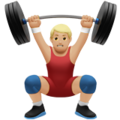 Person Lifting Weights: Medium-Light Skin Tone on Apple iOS 12.2