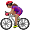Woman Biking: Medium Skin Tone on Apple iOS 12.2