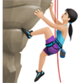 Woman Climbing: Light Skin Tone on Apple iOS 12.2