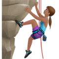 Woman Climbing: Medium Skin Tone on Apple iOS 12.2