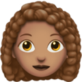 Woman: Medium Skin Tone, Curly Hair on Apple iOS 12.2