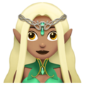 Woman Elf: Medium Skin Tone on Apple iOS 12.2