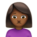 Woman Frowning: Medium-Dark Skin Tone on Apple iOS 12.2