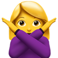 Woman Gesturing No on Apple iOS 12.2