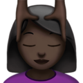 Woman Getting Massage: Dark Skin Tone on Apple iOS 12.2