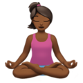 Woman in Lotus Position: Medium-Dark Skin Tone on Apple iOS 12.2
