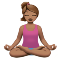 Woman in Lotus Position: Medium Skin Tone on Apple iOS 12.2