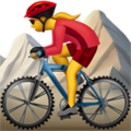 Woman Mountain Biking on Apple iOS 12.2