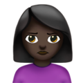 Woman Pouting: Dark Skin Tone on Apple iOS 12.2