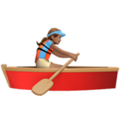 Woman Rowing Boat: Medium Skin Tone on Apple iOS 12.2