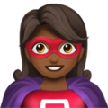Woman Superhero: Medium-Dark Skin Tone on Apple iOS 12.2