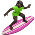 Woman Surfing: Dark Skin Tone on Apple iOS 12.2