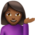 Woman Tipping Hand: Medium-Dark Skin Tone on Apple iOS 12.2