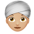 Woman Wearing Turban: Medium-Light Skin Tone on Apple iOS 12.2