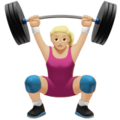 Woman Lifting Weights: Medium-Light Skin Tone on Apple iOS 12.2