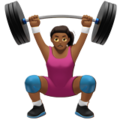 Woman Lifting Weights: Medium-Dark Skin Tone on Apple iOS 12.2