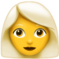 Woman: White Hair on Apple iOS 12.2