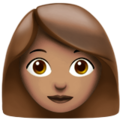 Woman: Medium Skin Tone on Apple iOS 12.2
