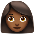Woman: Medium-Dark Skin Tone on Apple iOS 12.2