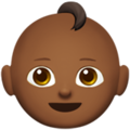 Baby: Medium-Dark Skin Tone on Apple iOS 13.1