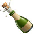 Bottle With Popping Cork on Apple iOS 13.1