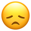 Disappointed Face on Apple iOS 13.1