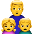 Family: Man, Girl, Boy on Apple iOS 13.1
