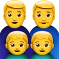 Family: Man, Man, Boy, Boy on Apple iOS 13.1