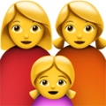 Family: Woman, Woman, Girl on Apple iOS 13.1