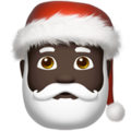 Santa Claus: Dark Skin Tone on Apple iOS 13.1