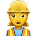 Woman Construction Worker on Apple iOS 13.1