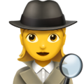 Woman Detective on Apple iOS 13.1