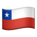 Flag: Chile on Apple iOS 13.1