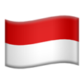 Flag: Indonesia on Apple iOS 13.1