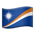 Flag: Marshall Islands on Apple iOS 13.1
