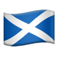 Flag: Scotland on Apple iOS 13.1