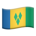 Flag: St. Vincent & Grenadines on Apple iOS 13.1