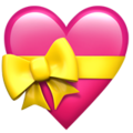 Heart With Ribbon on Apple iOS 13.1