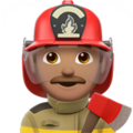 Man Firefighter: Medium Skin Tone on Apple iOS 13.1