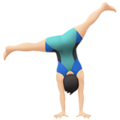 Man Cartwheeling: Light Skin Tone on Apple iOS 13.1