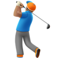 Man Golfing: Medium Skin Tone on Apple iOS 13.1