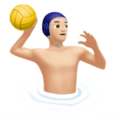 Man Playing Water Polo: Light Skin Tone on Apple iOS 13.1