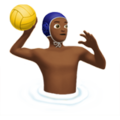 Man Playing Water Polo: Medium-Dark Skin Tone on Apple iOS 13.1