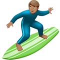 Man Surfing: Medium Skin Tone on Apple iOS 13.1
