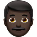 Man: Dark Skin Tone on Apple iOS 13.1