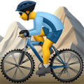 Person Mountain Biking on Apple iOS 13.1