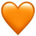 Orange Heart on Apple iOS 13.1