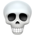 Skull on Apple iOS 13.1