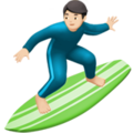 Person Surfing: Light Skin Tone on Apple iOS 13.1